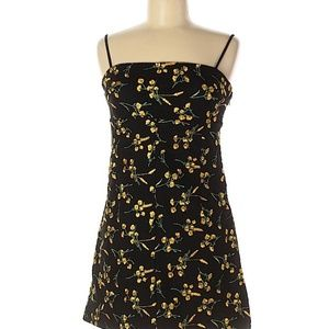 UO Floral Yellow and Black Cocktail Dress